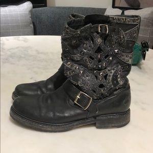 Veronica Studded Laser-Cut Frye Boot